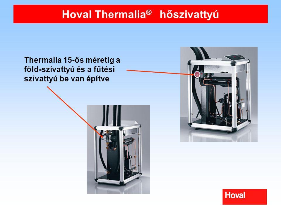 Hoval Thermalia ® hőszivattyú Thermalia 15-ös méretig a föld-szivattyú és a fűtési szivattyú be van építve