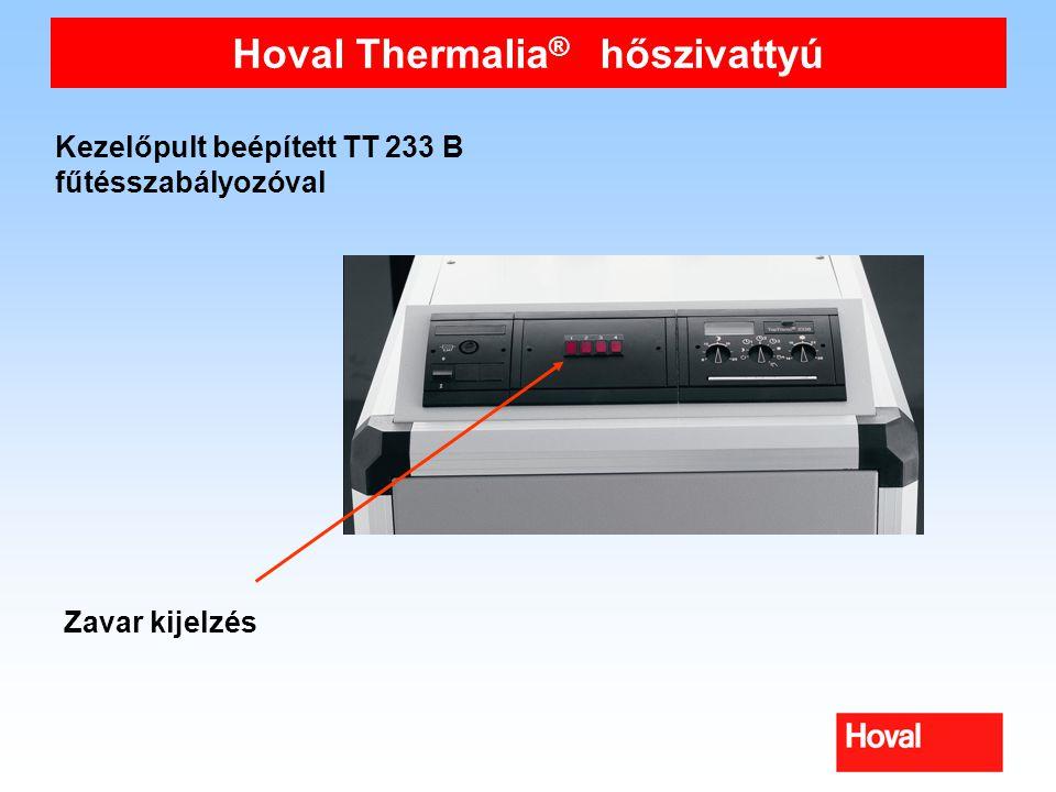 Hoval Thermalia ® hőszivattyú Kezelőpult beépített TT 233 B fűtésszabályozóval Zavar kijelzés