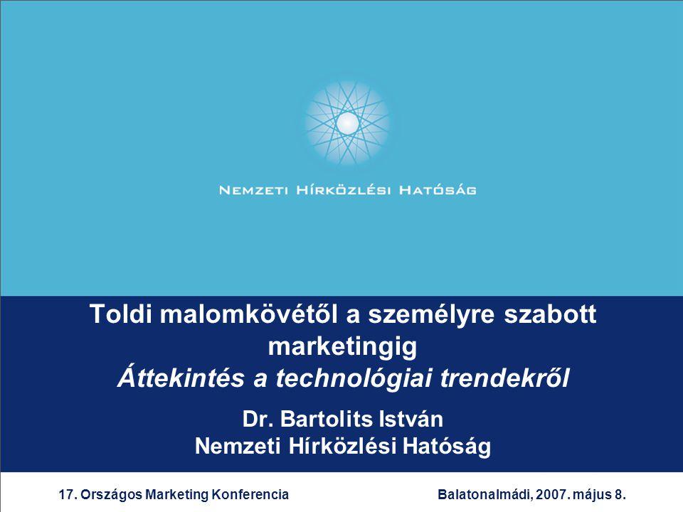 22 17.Országos Marketing Konferencia 2007. május 8.