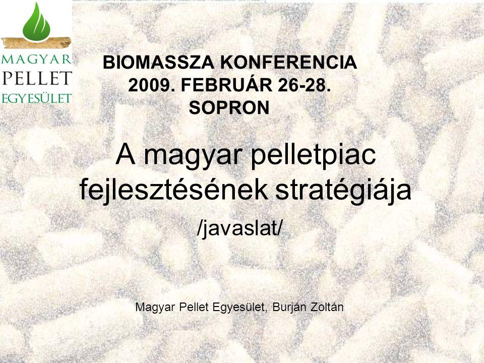 A magyar pelletpiac fejlesztésének stratégiája /javaslat/ BIOMASSZA KONFERENCIA 2009.