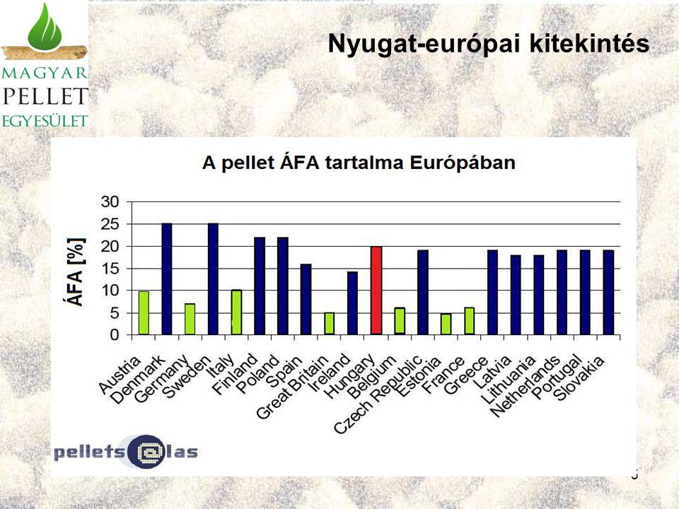 6 Forrás: Pannon Pellet Kft, 2008. Nyugat-európai kitekintés