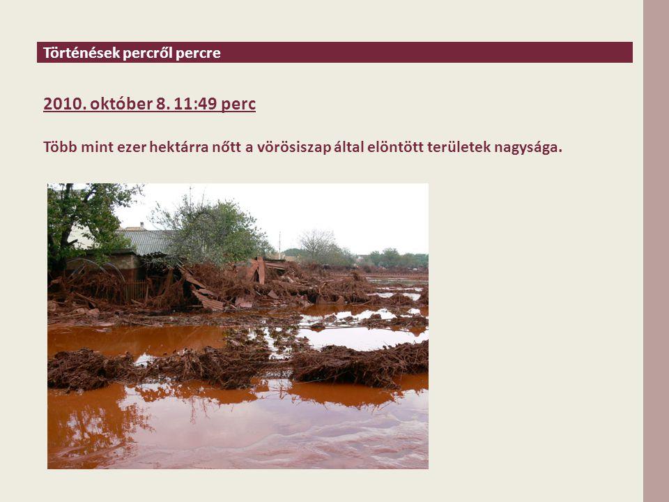 Történések percről percre 2010. október 8.