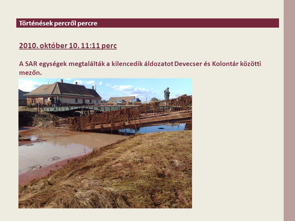 Történések percről percre 2010. október 10.
