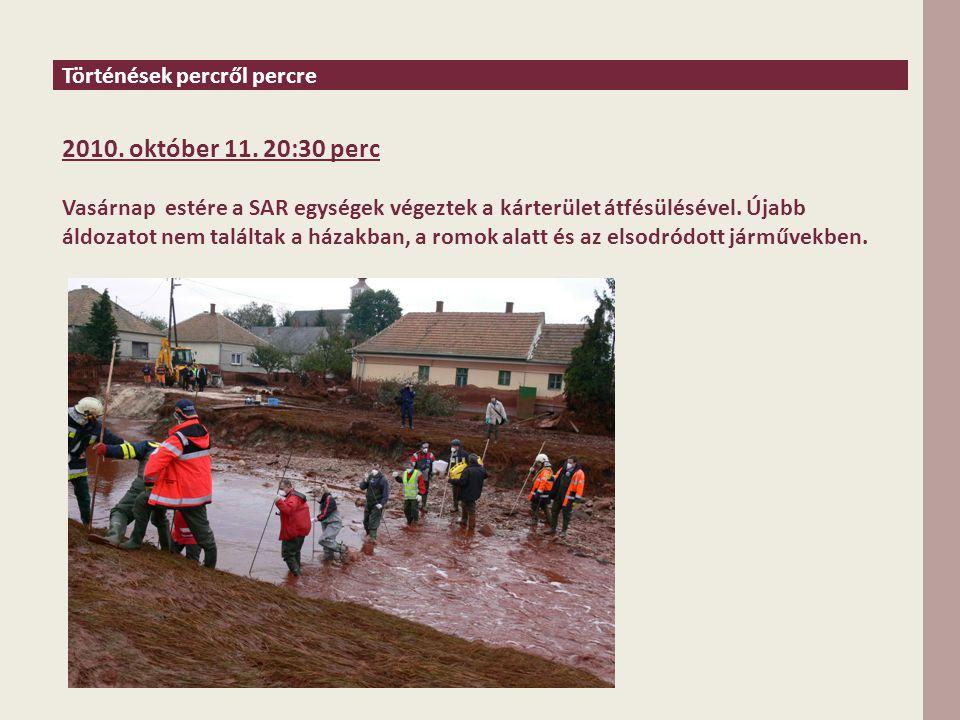 Történések percről percre 2010. október 11.