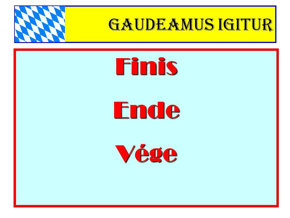 Gaudeamus igitur FinisEndeVége
