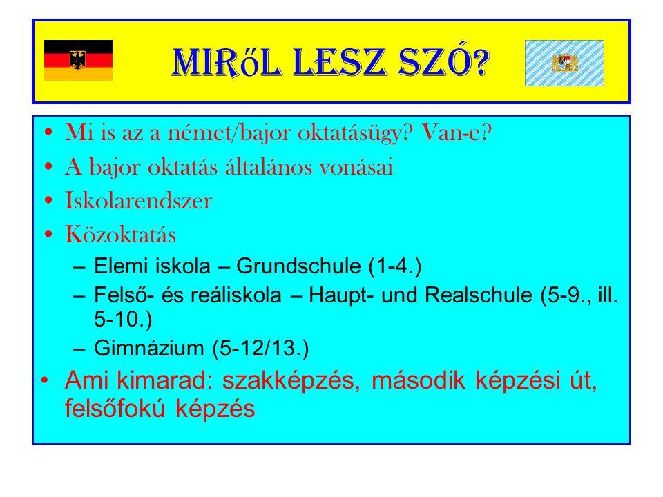 Német oktatásügy I.
