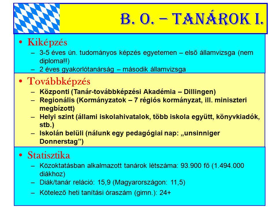 B.o. – Tanárok II. Köztisztvisel ő k (egyházi iskolák nem!) –A12: Ált.