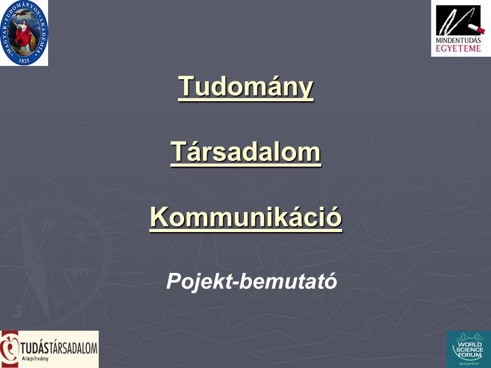 Tudomány Társadalom Kommunikáció Pojekt-bemutató