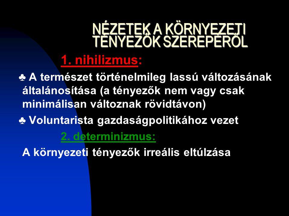 NÉZETEK A KÖRNYEZETI TÉNYEZŐK SZEREPÉRŐL 1.