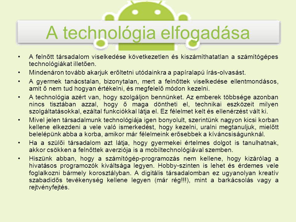 AppInventor for Android Az AppInventor for Android alkalmazásfejlesztő környezet a Google és a Massachusets Institute of Technology (MIT) közös projektje, 2008-ban indult.