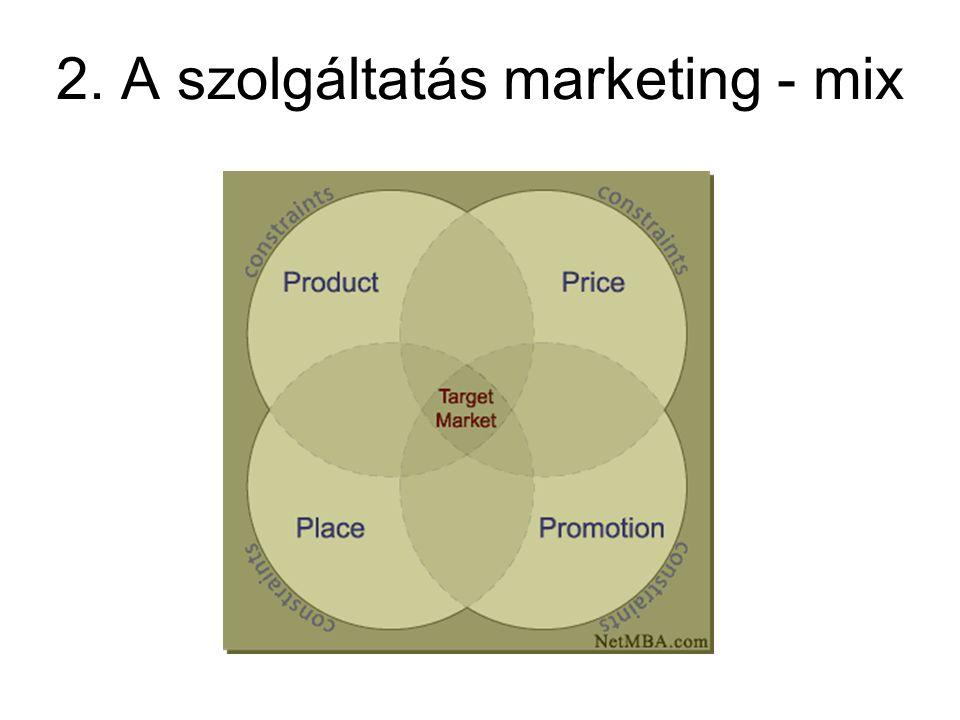 2. A szolgáltatás marketing - mix