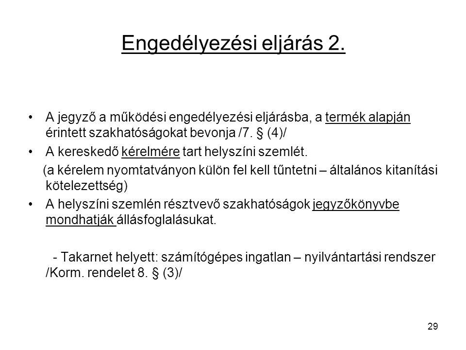 Engedélyezési eljárás 2.