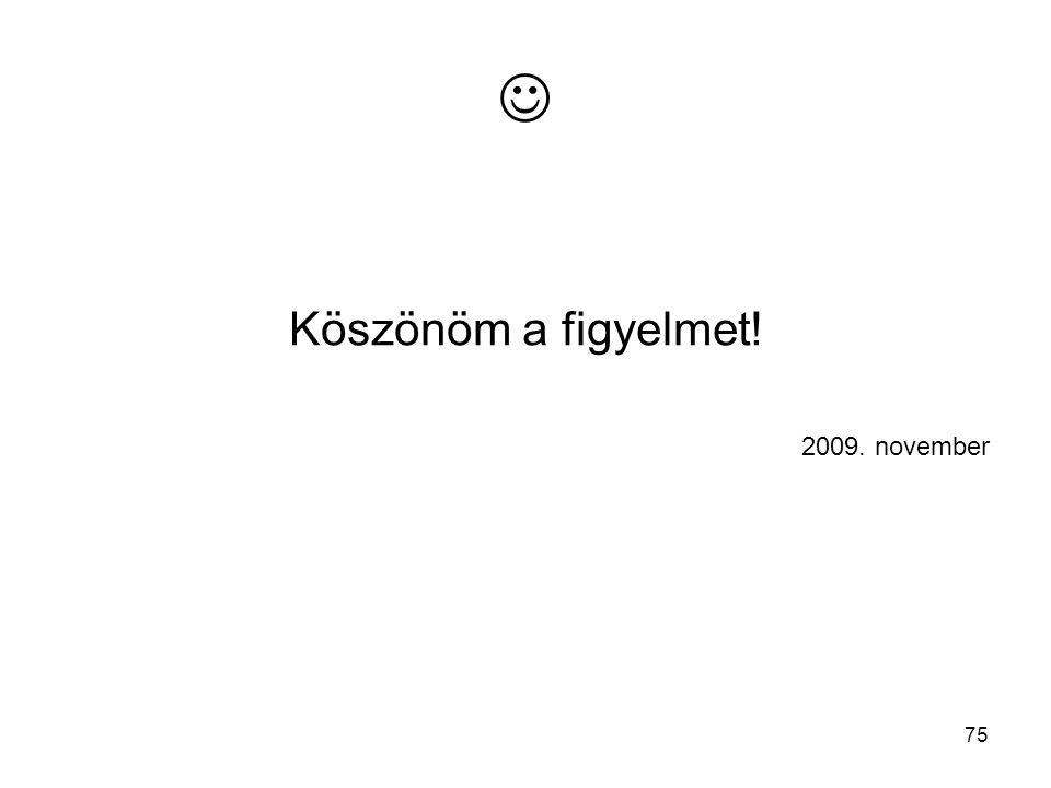 75 Köszönöm a figyelmet! 2009. november