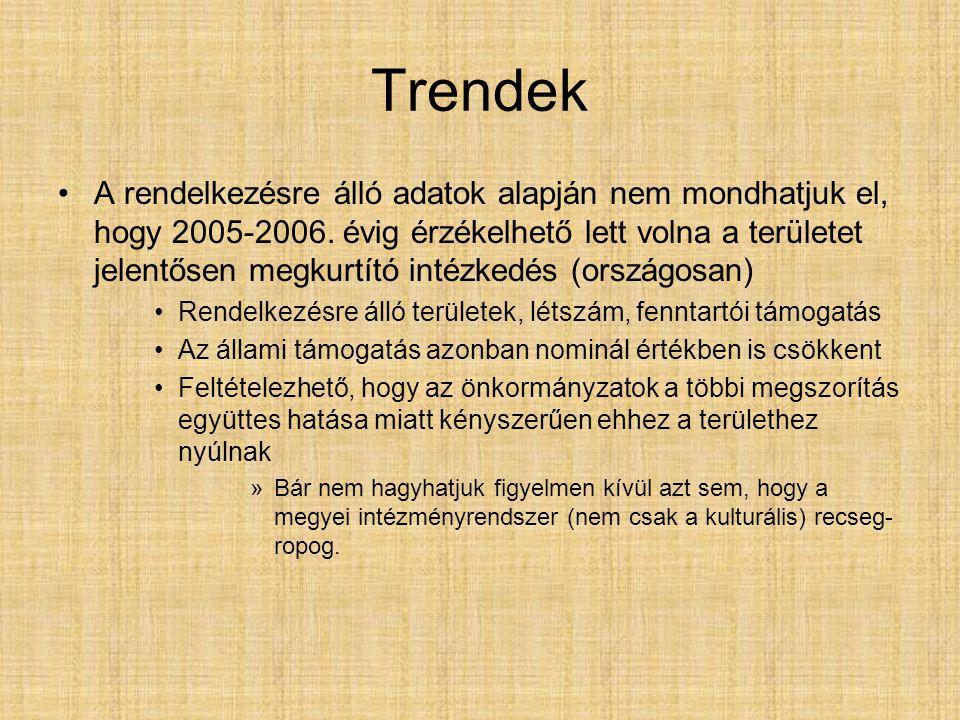 Trendek A rendelkezésre álló adatok alapján nem mondhatjuk el, hogy 2005-2006.