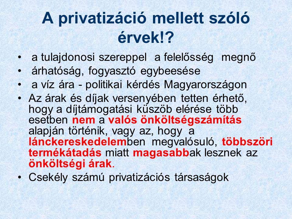 A privatizáció mellett szóló érvek!.