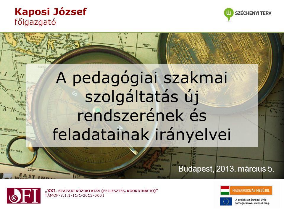 """""""XXI.SZÁZADI KÖZOKTATÁS ( FEJLESZTÉS, KOORDINÁCIÓ ) TÁMOP-3.1.1-11/1-2012-0001 Ütemezés II."""