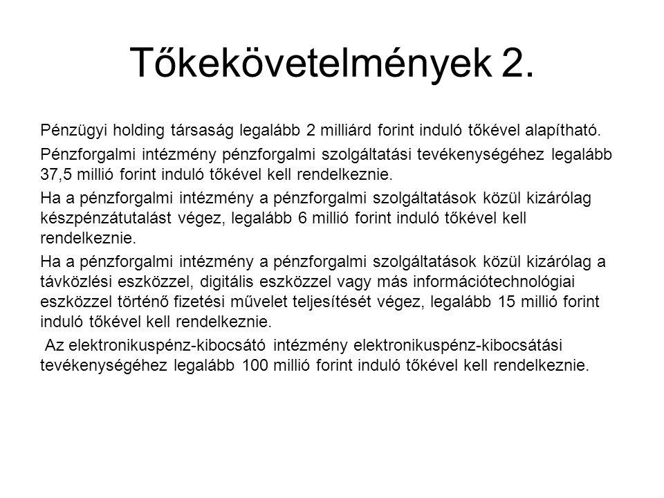 Tőkekövetelmények 2.