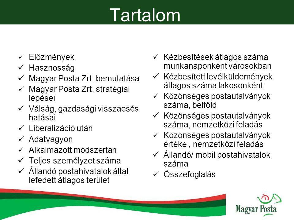 Előzmények Motiváció 2013-as piacnyitás Célcsoportok Magyar Posta Zrt.