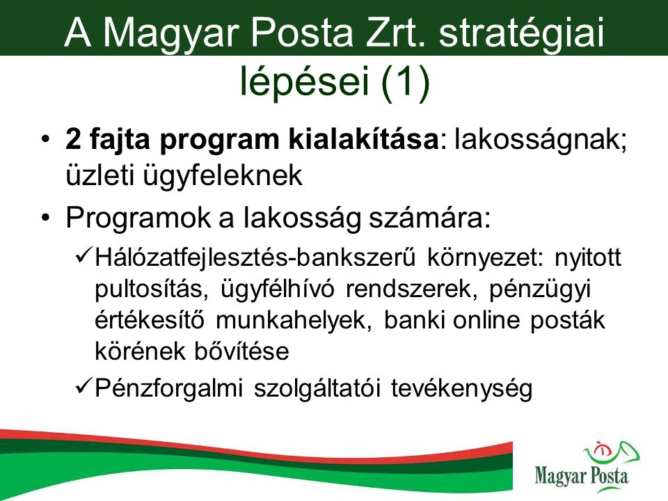 A Magyar Posta Zrt.
