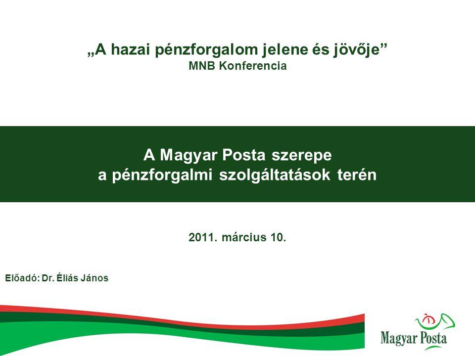 Tartalom  A posta pénzforgalmi tevékenységének általános bemutatása  A törvényi feltételek változásának hatása a Postára és a szolgáltatások igénybevevőire 2