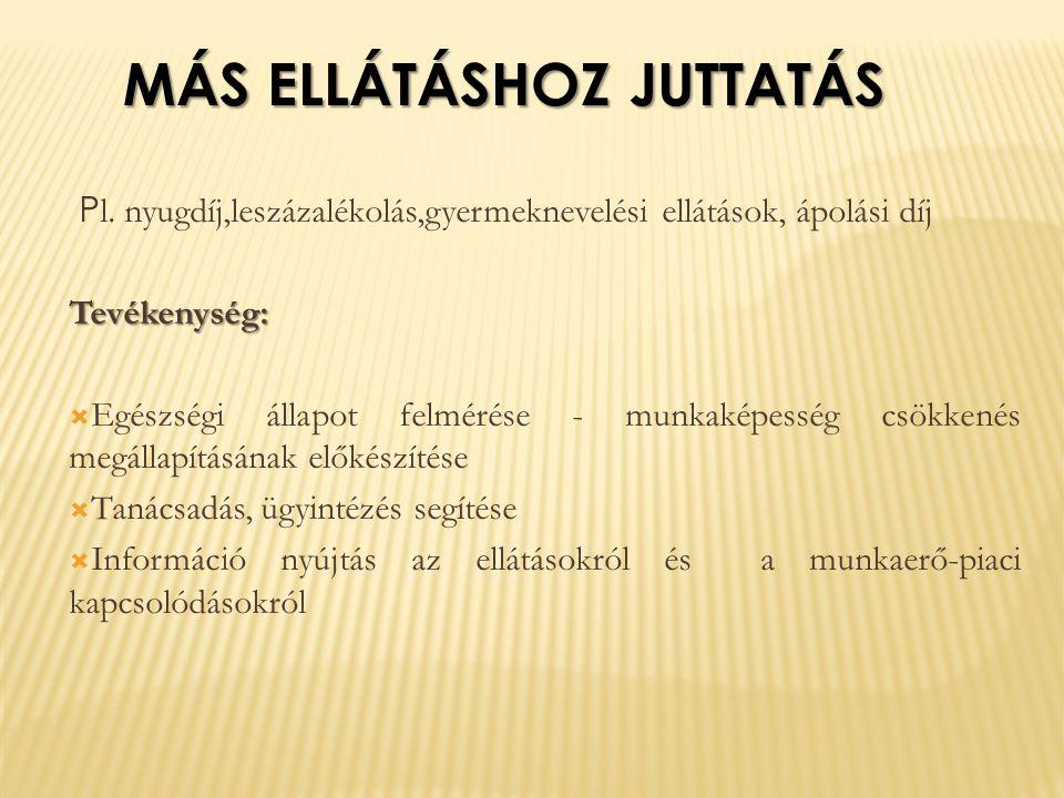 MÁS ELLÁTÁSHOZ JUTTATÁS P l.