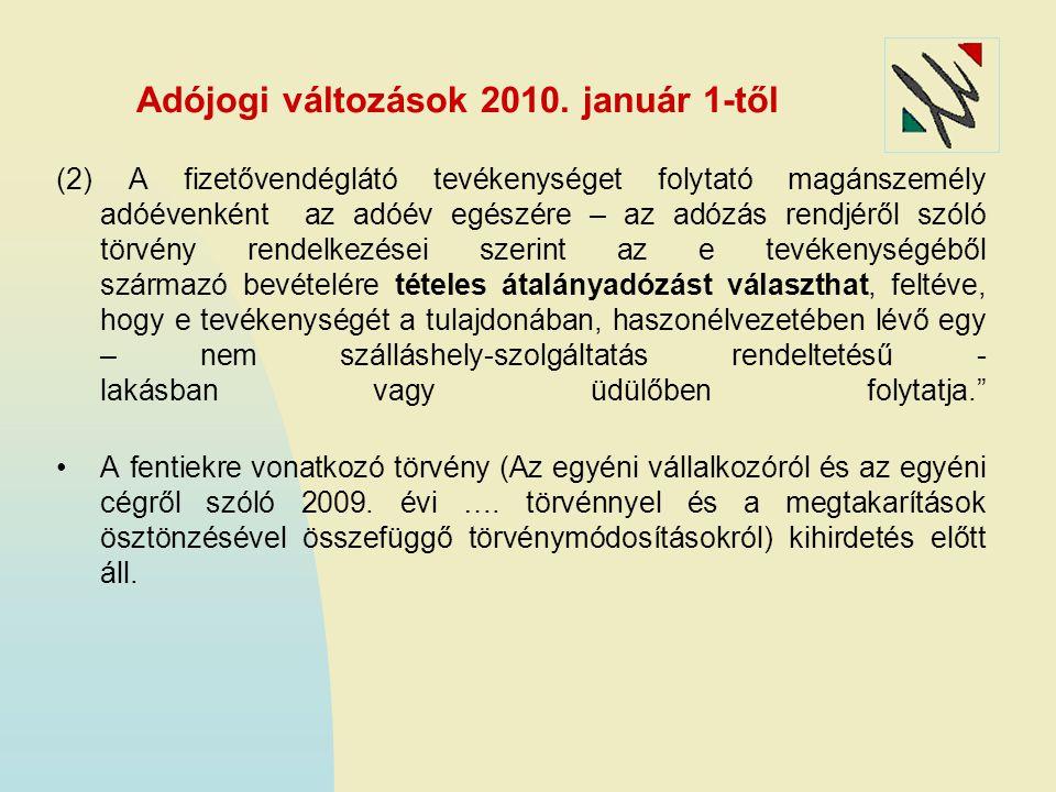 Adójogi változások 2010.
