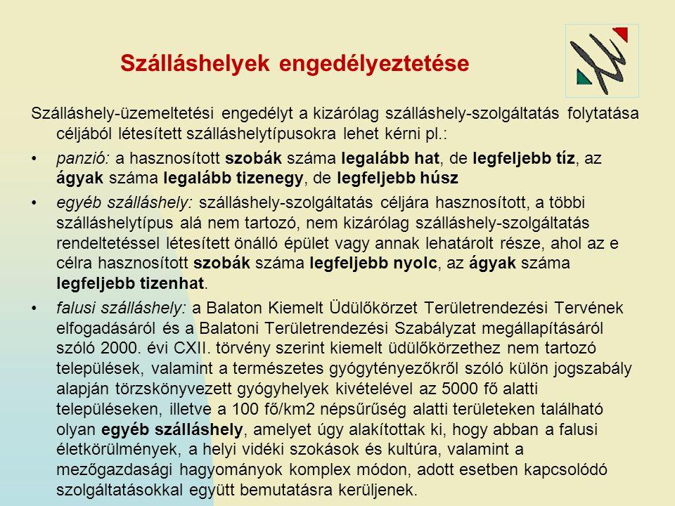 Szálláshelyek engedélyeztetése Szálláshely-üzemeltetési engedélyt a kizárólag szálláshely-szolgáltatás folytatása céljából létesített szálláshelytípus