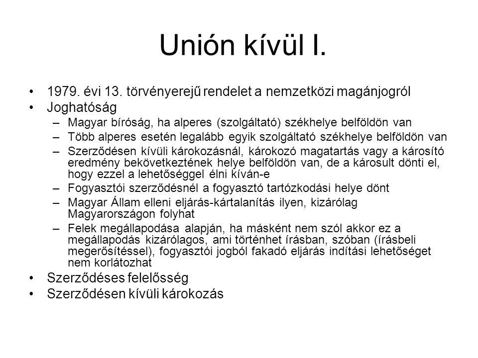 Unión kívül I. 1979. évi 13.