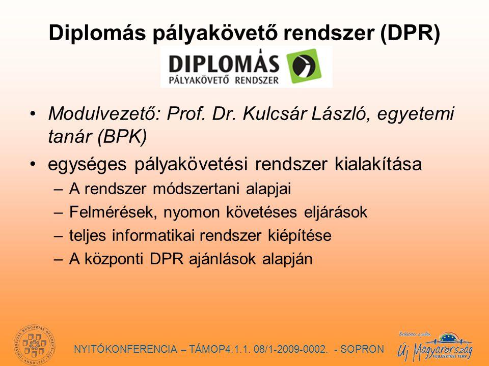 Diplomás pályakövető rendszer (DPR) Modulvezető: Prof.