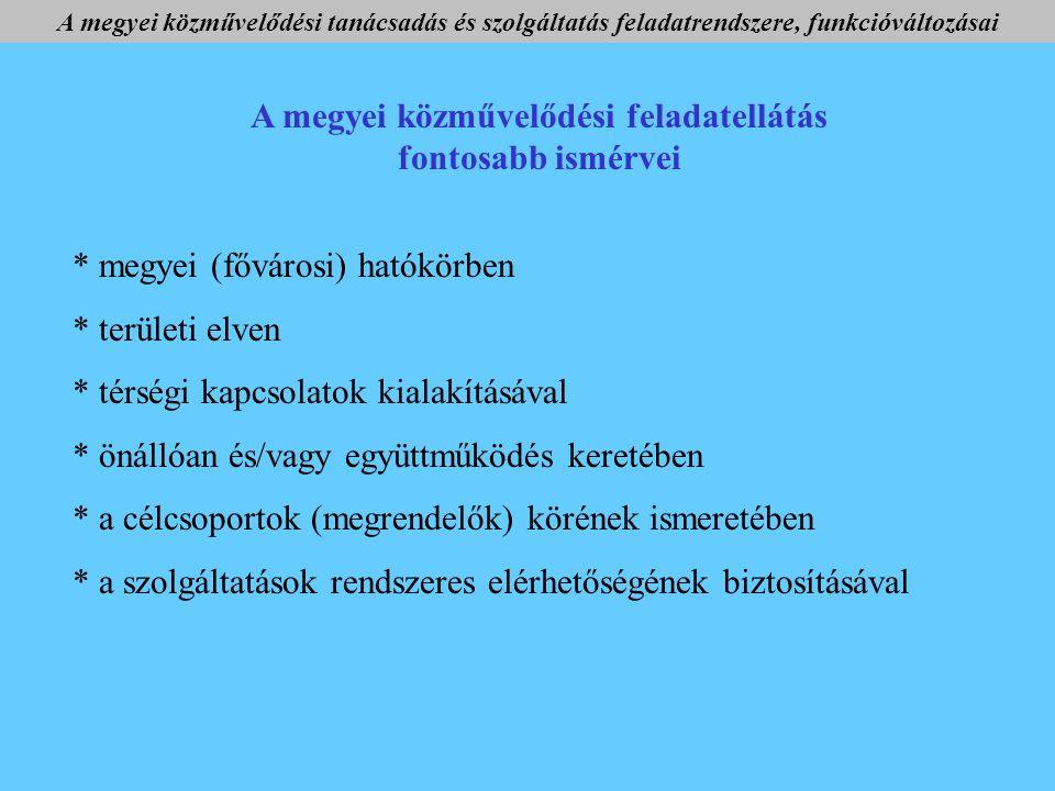 Mi a helyzet ma.Önálló intézmény tiszta profillal 4 ( Bpest, Fejér m.