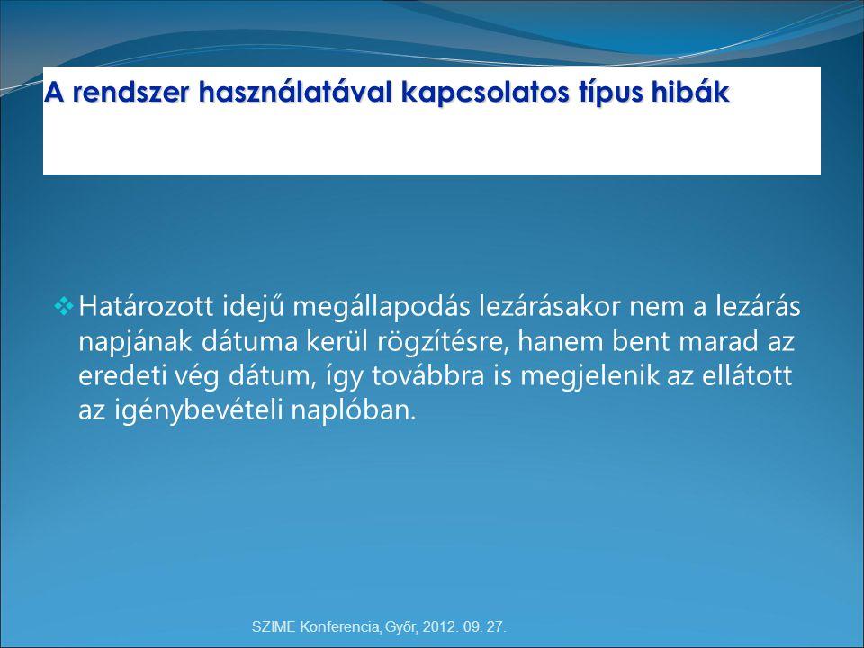 SZIME Konferencia, Győr, 2012. 09. 27.