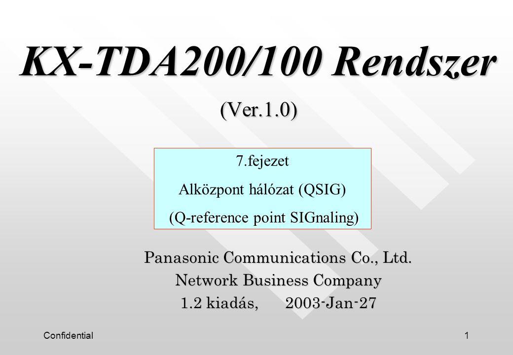 Confidential2 n ISDN alapú jelzés protokoll alközpont és alközpont között.