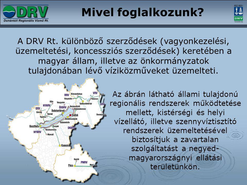 Mivel foglalkozunk? A DRV Rt. különböző szerződések (vagyonkezelési, üzemeltetési, koncessziós szerződések) keretében a magyar állam, illetve az önkor