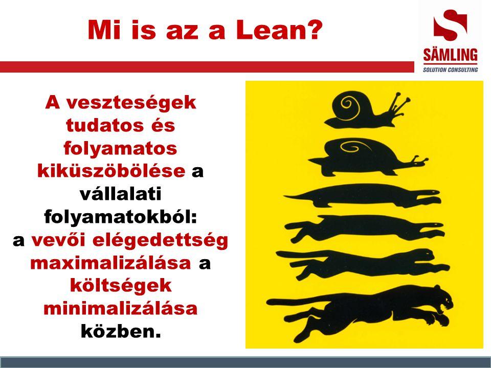 Mi is az a Lean? A veszteségek tudatos és folyamatos kiküszöbölése a vállalati folyamatokból: a vevői elégedettség maximalizálása a költségek minimali