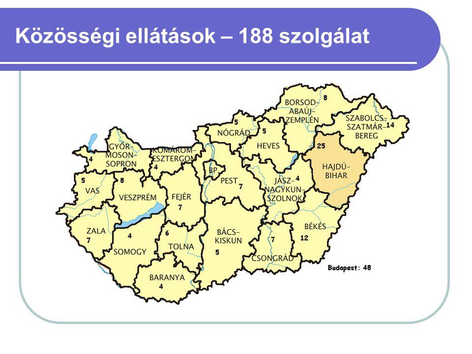 Közösségi ellátások – 188 szolgálat