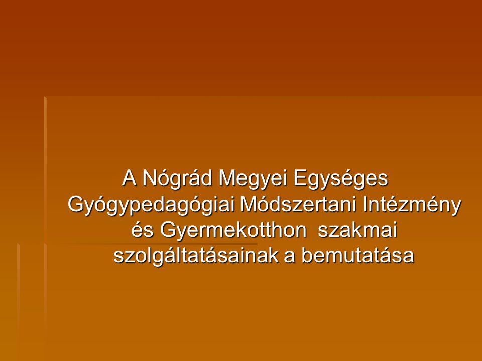 A Nógrád Megyei Egységes Gyógypedagógiai Módszertani Intézmény és Gyermekotthon szakmai szolgáltatásainak a bemutatása