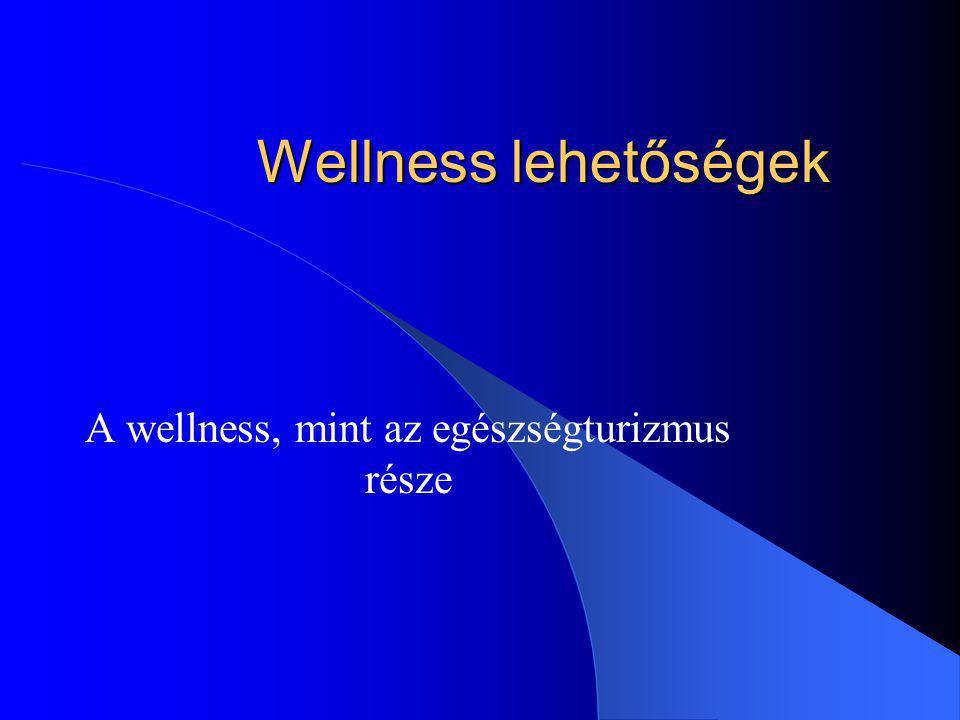 Wellness lehetőségek A wellness, mint az egészségturizmus része