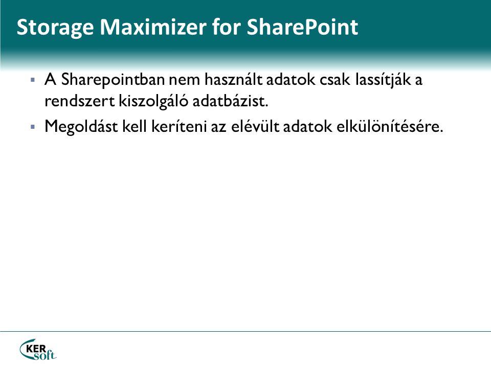  A Sharepointban nem használt adatok csak lassítják a rendszert kiszolgáló adatbázist.