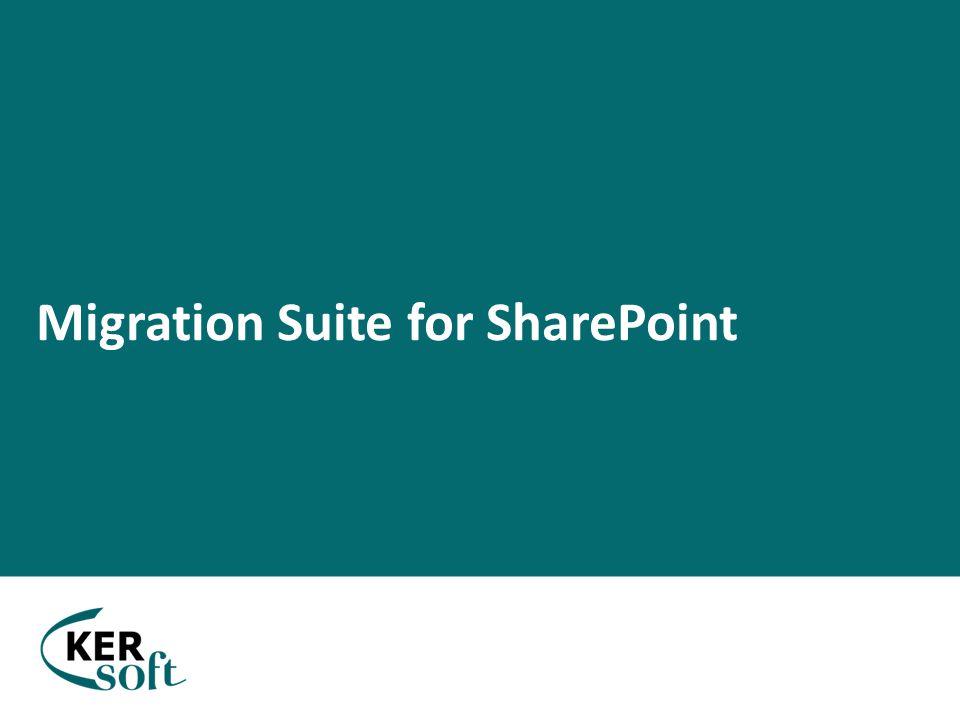  Sharepoint rendszer migrálásának megkönnyítése  Tartalom szemlélettel közelíti meg a problémát