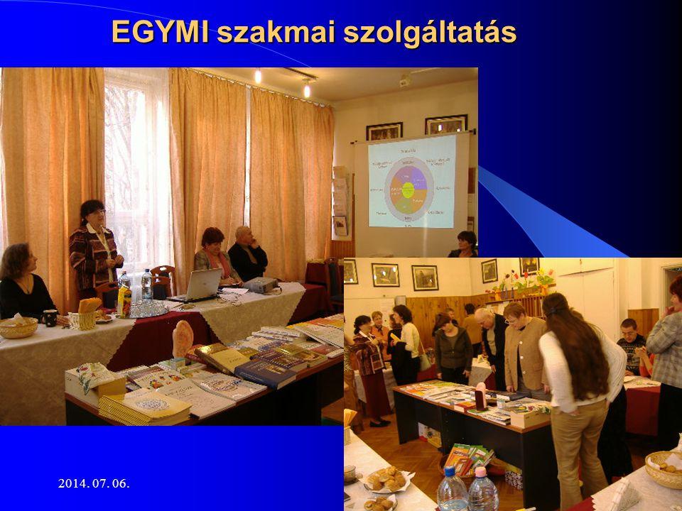 2014. 07. 06.13 EGYMI szakmai szolgáltatás