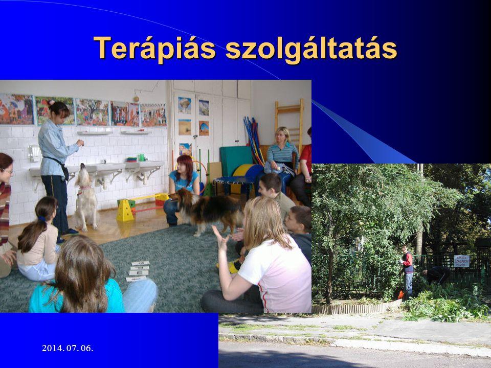 2014. 07. 06.16 Terápiás szolgáltatás