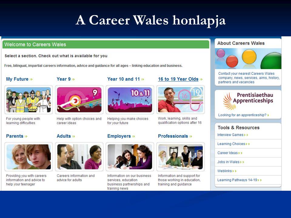 A Career Wales honlapja