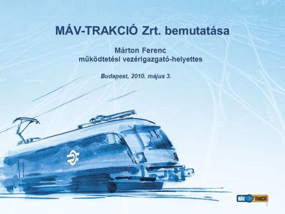 MÁV-TRAKCIÓ Zrt. bemutatása Budapest, 2010. május 3.