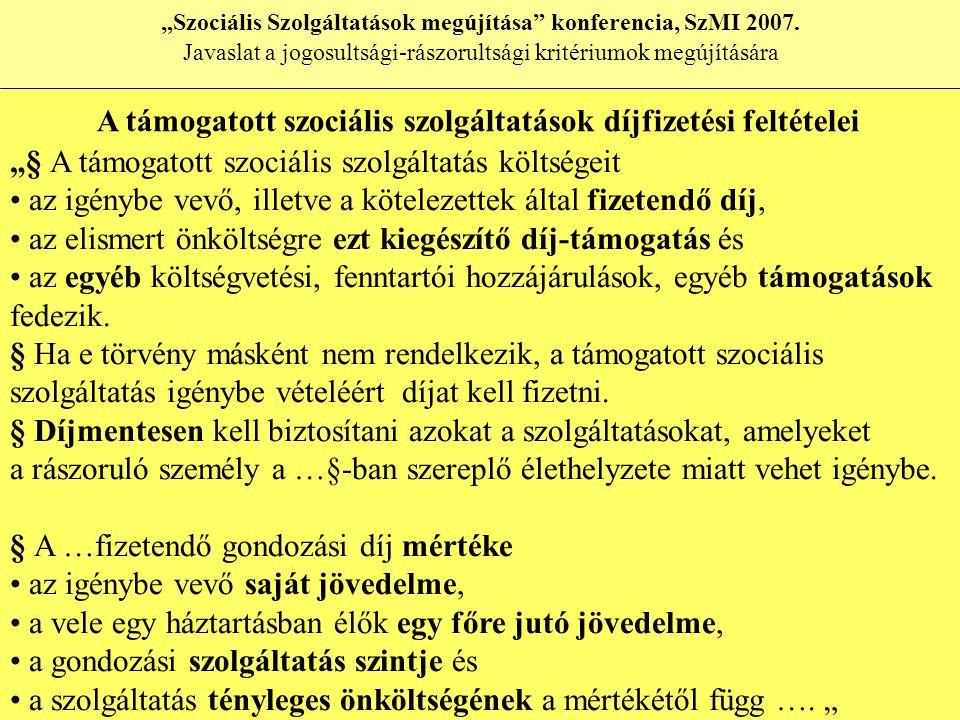 """""""Szociális Szolgáltatások megújítása konferencia, SzMI 2007."""