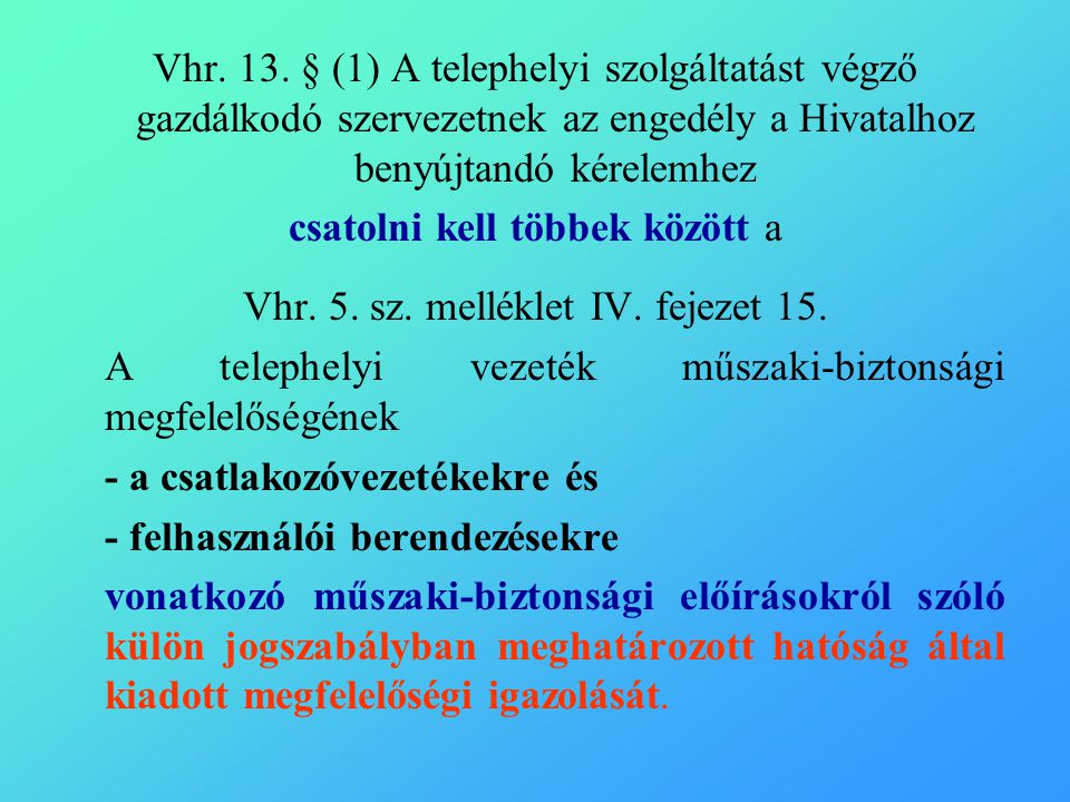 Vhr. 13.