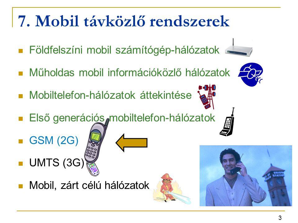 4 GSM szolgáltatások – 1 Beszédátvitel  kodek sebessége 13 kb/s (később: 5,6 kb/s)  kompromisszum: viszonylag gyenge hangminőség, jobb frekvenciakihasználtság SMS (Short Message Service, rövid szöveges üzenet szolgáltatás)  160 karakter max.