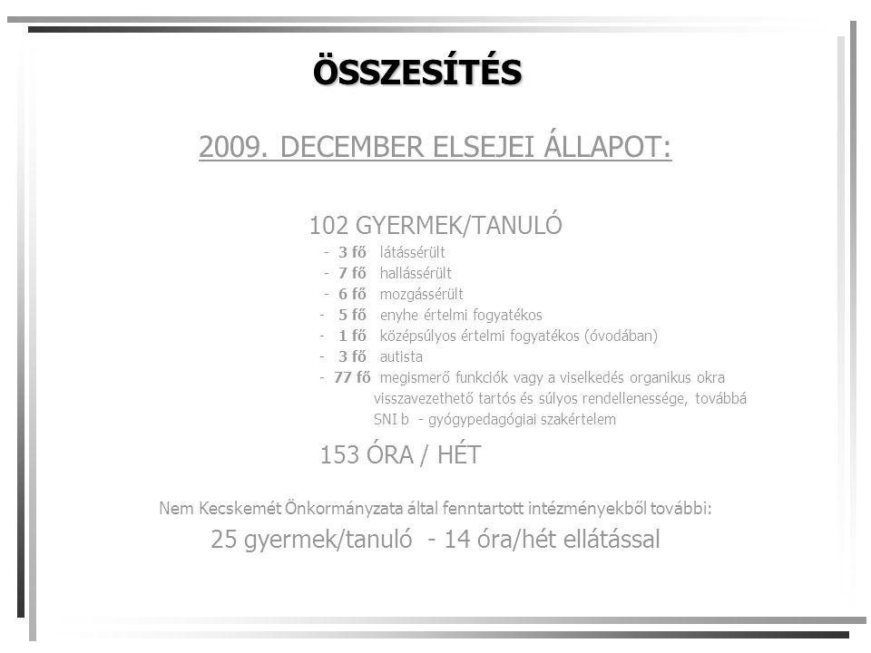 ÖSSZESÍTÉS 2009.