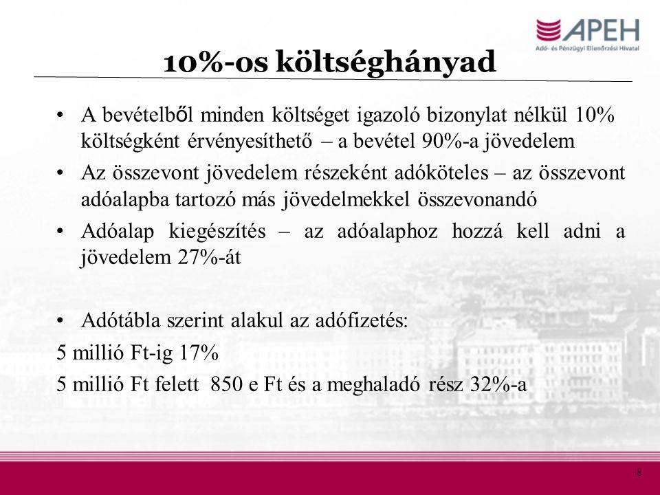 19 Az adó alanya, tárgya Alanya: –a hatósági nyilvántartásban feltüntetett tulajdonos, vagy –az Szja.