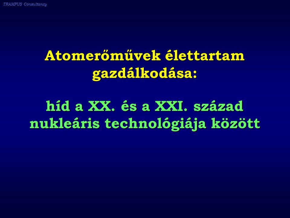 TRAMPUS Consultancy Atomerőművek élettartam gazdálkodása: híd a XX.