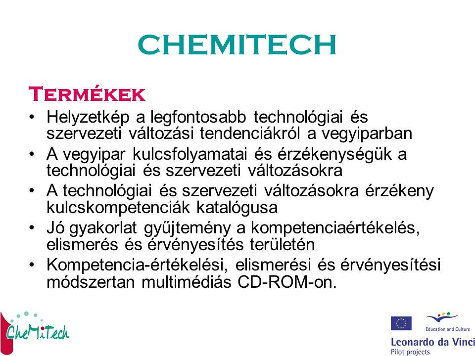 CHEMITECH Termékek Helyzetkép a legfontosabb technológiai és szervezeti változási tendenciákról a vegyiparban A vegyipar kulcsfolyamatai és érzékenysé